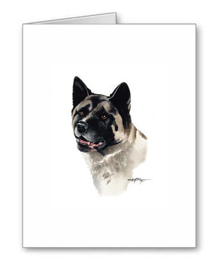 A Akita portrait print based on a David J Rogers original watercolor