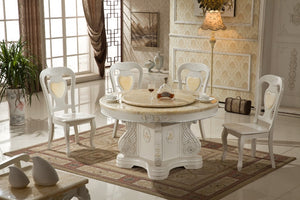 Glass Table Eettafel Iron Antique Wooden  Marble Top Dinning Table