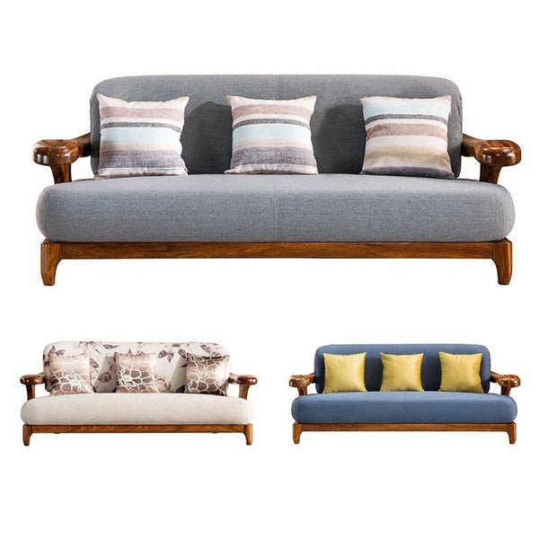 Couch Puff Wooden Vintage Set Living Room Furniture  Sofa