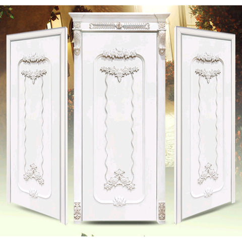 luxurious main door wood carving design, white wooden door