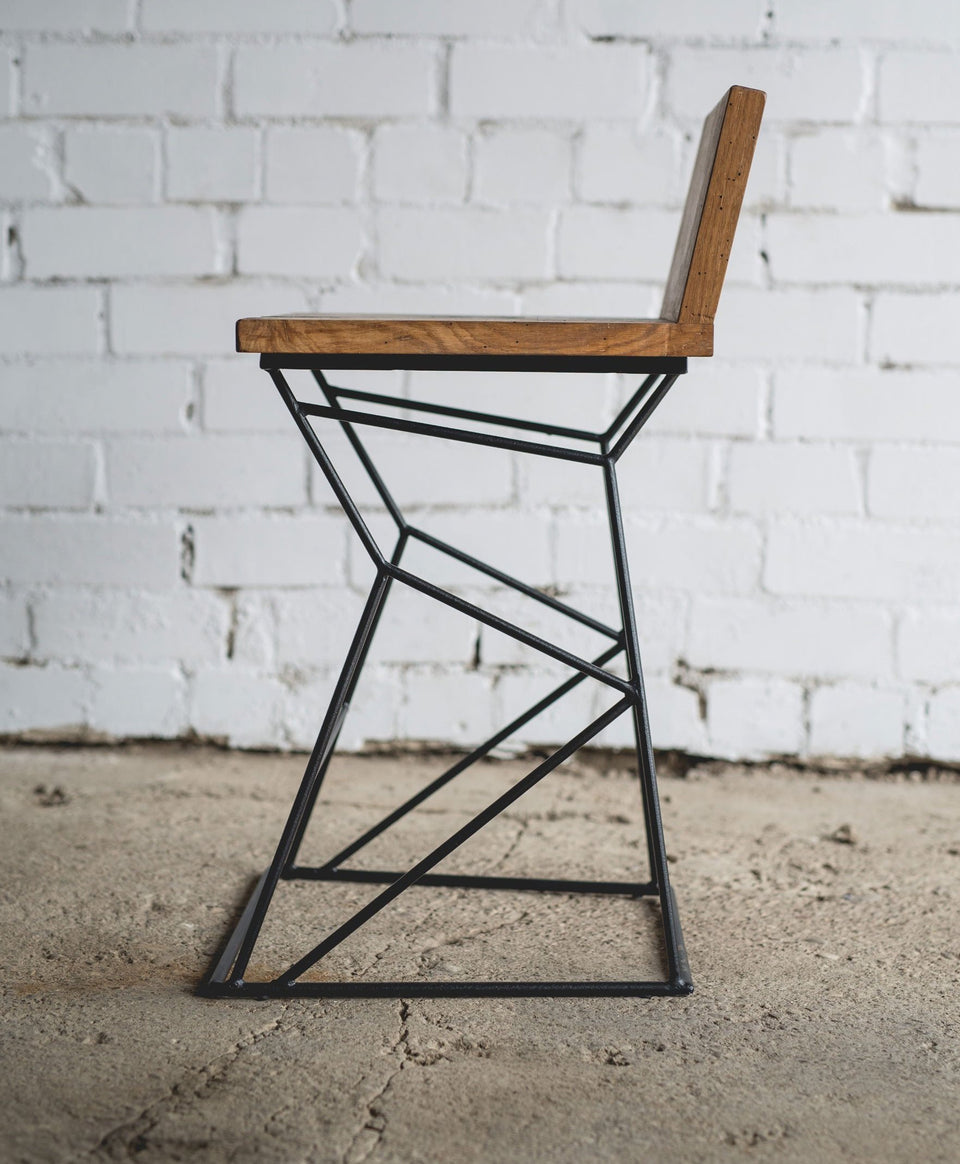 BAR CHAIR WITH BACKREST 014