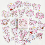 Cute Big Ears Pink Pig Decorative Stickers Scrapbooking Stick Label Diary Stationery Album Stickers - Bentley York
