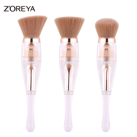 Patent Makeup Brushes 3 in 1 Multifunction Powder