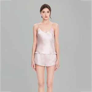 Women's Basic Silk Camisole Set
