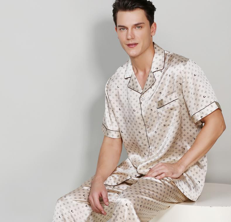 Mode Silk Pajamas Set for Men