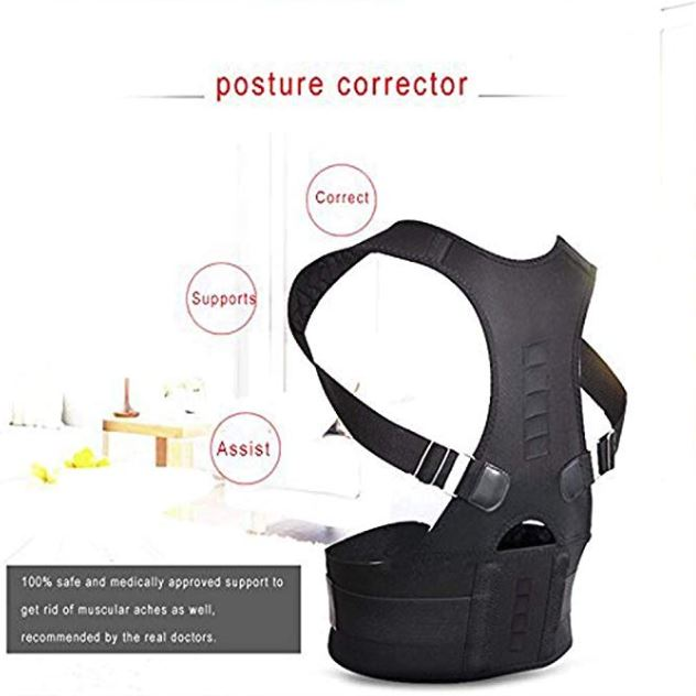 Magnetic Posture Corrector for Lower and Upper Back Pain demo