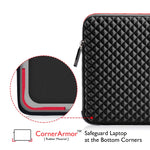 Laptop Sleeve Waterproof Shockproof Black Notebook Case