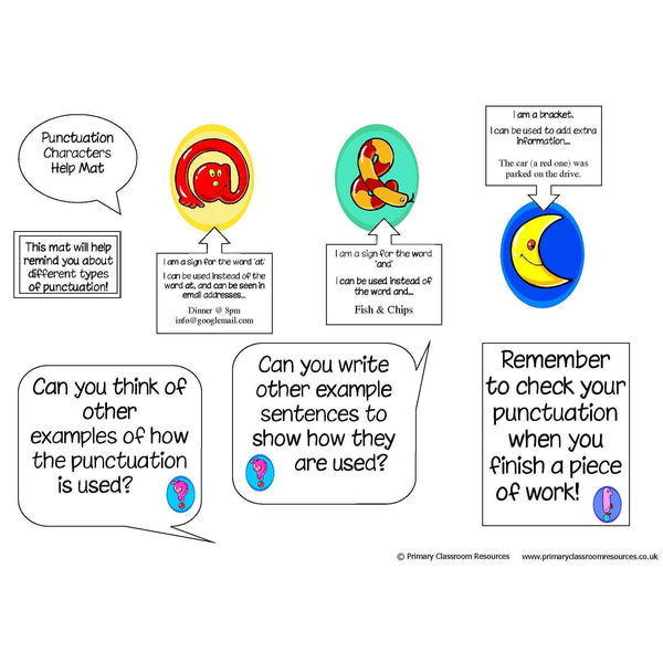 Punctuation Character Mat