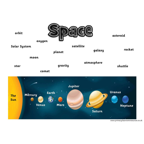 Space Vocabulary Mat