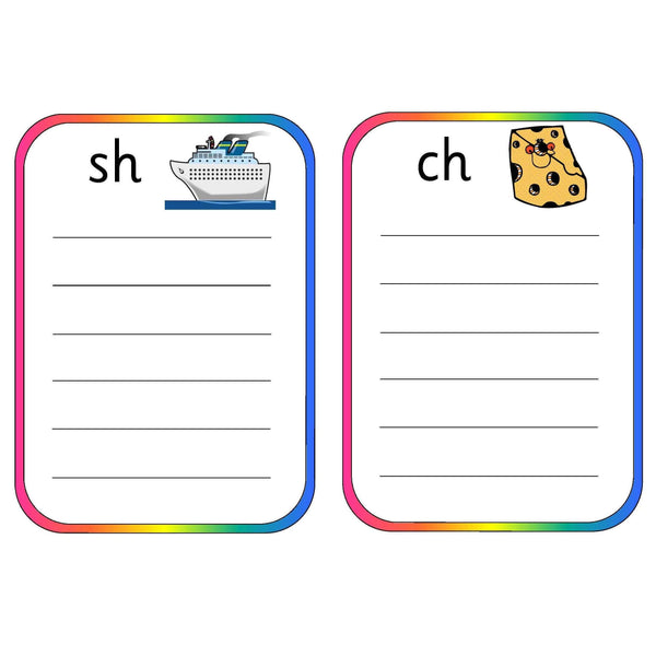 Spelling Pocket Lists Consonant Digraphs