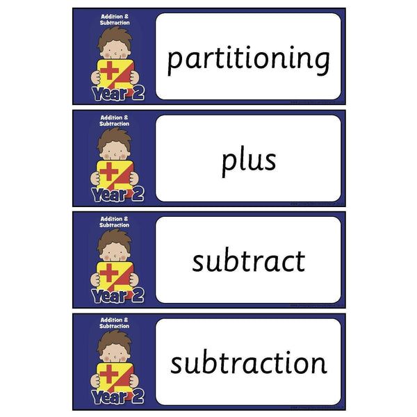 Year 2 Maths Vocabulary - Addition and Subtraction
