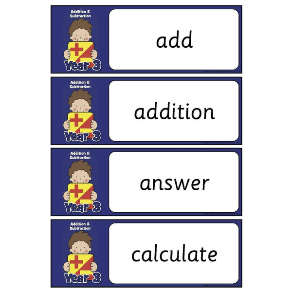Year 3 Maths Vocabulary - Addition and Subtraction