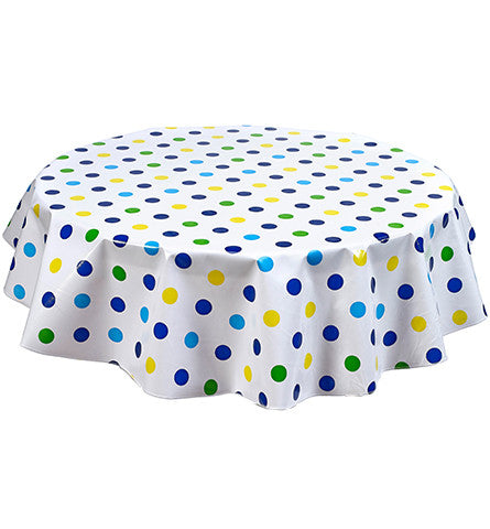 Freckled Sage Round tablecloth Big Dot Navy