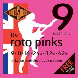 Rotosound Roto Pinks Strings 9-42 Super Light