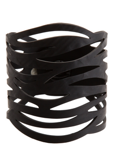 Recycled, rubber, faux leather, bracelet, handcrafted by Paguro