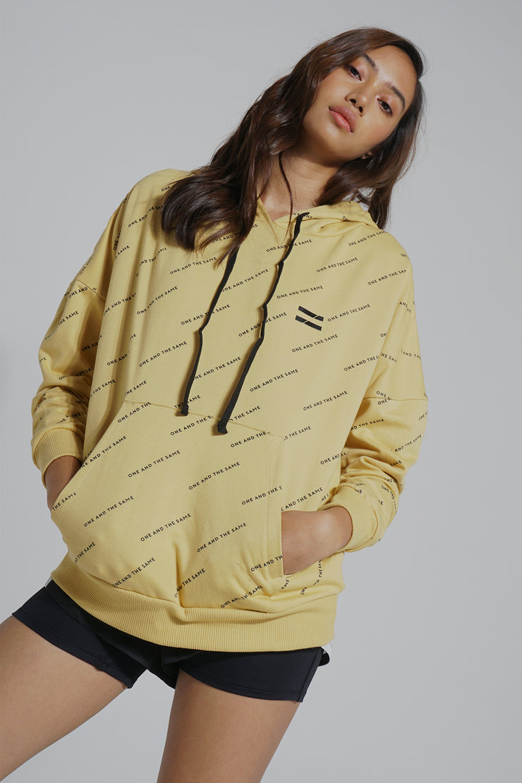 COED French Terry Hoodie With All-Over Print