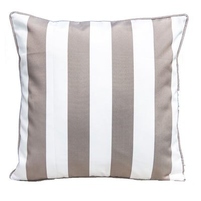 Epona Co. Outdoor Cushions - Taupe Stripe