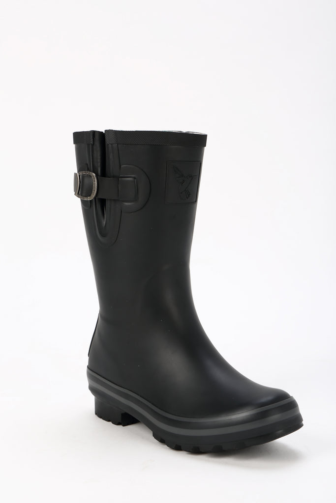 Evercreatures All Black Plain Short Wellies