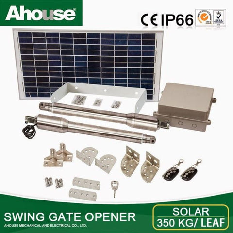 Ahouse double solar gate kit: Up to 4 meters/gate DT3+
