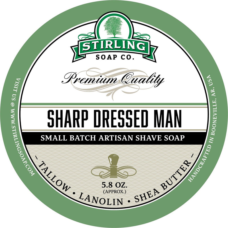 Stirling Soap Company Sharp Dressed Man - Shave Soap