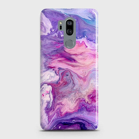 3D Chic Blue Liquid Marble Case For LG G7 ThinQ