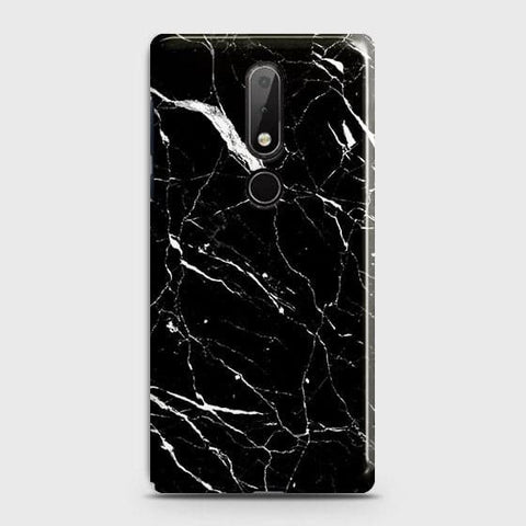 Trendy Black Marble Case For Nokia 7.1