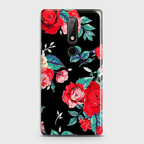 Luxury Vintage Red Flowers Case For Nokia 7.1