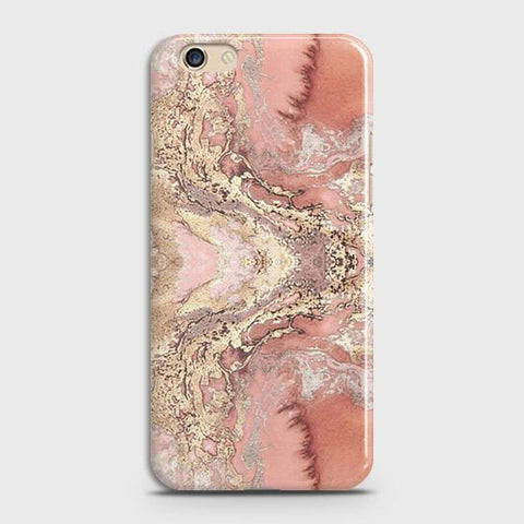 Trendy Chic Rose Gold Marble 3D Case For Oppo R9s Plus