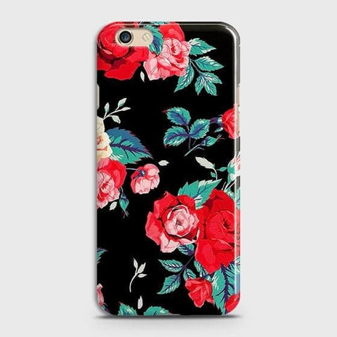 Luxury Vintage Red Flowers Case For Oppo R9s Plus