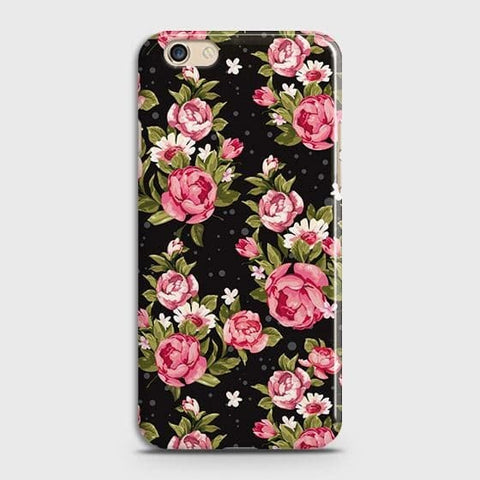 Trendy Pink Rose Vintage Flowers Case For Oppo R9s Plus