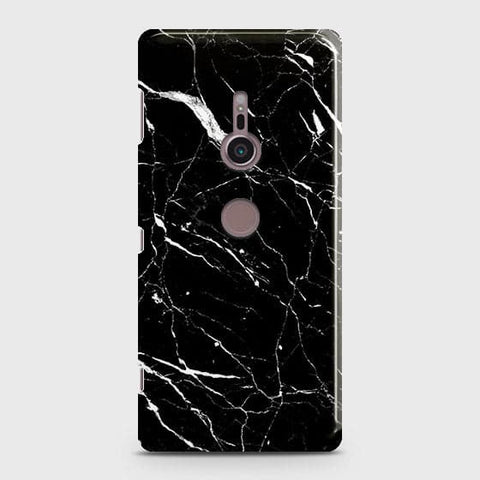 Trendy Black Marble Case For Sony Xperia XZ3