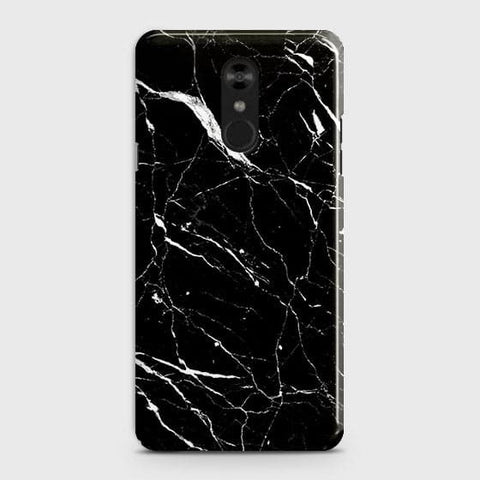 Trendy Black Marble Case For LG Stylo 4