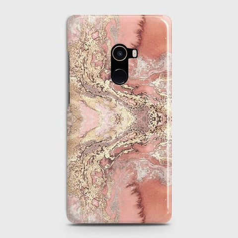 Trendy Chic Rose Gold Marble 3D Case For Xiaomi Mi Mix 2