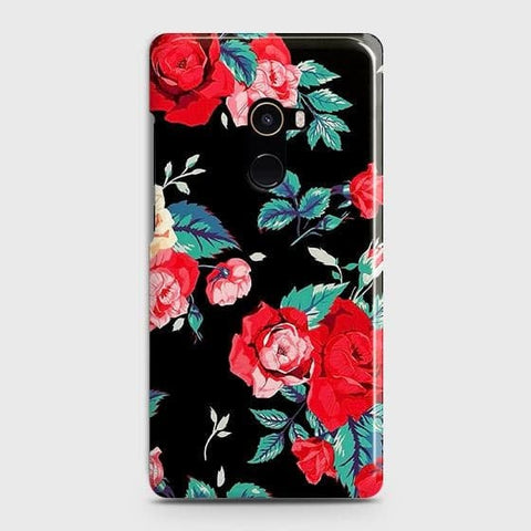 Luxury Vintage Red Flowers Case For Xiaomi Mi Mix 2