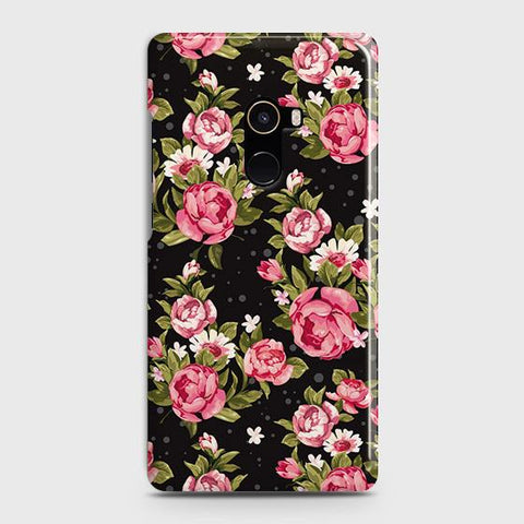 Trendy Pink Rose Vintage Flowers Case For Xiaomi Mi Mix 2