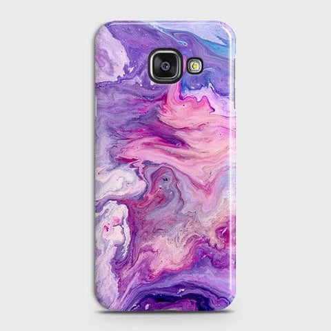3D Chic Blue Liquid Marble Case For Samsung A310
