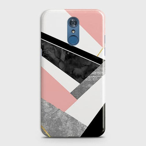 Geometric Luxe Marble Trendy Case For LG Q7