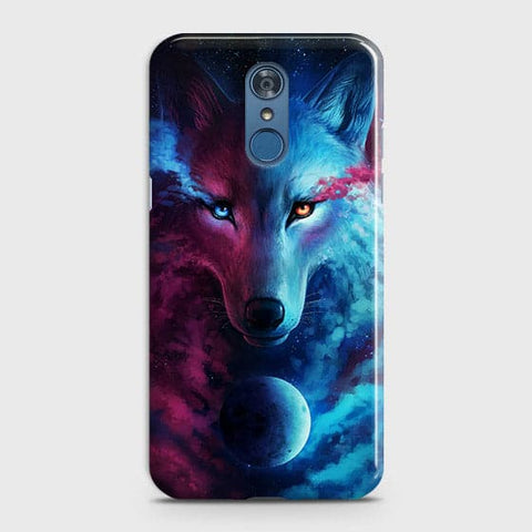 Infinity Wolf 3D Trendy Case For LG Q7
