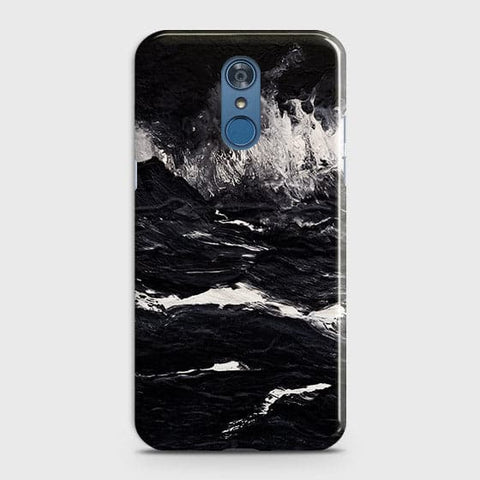 3D Black Ocean Marble Trendy Case For LG Q7