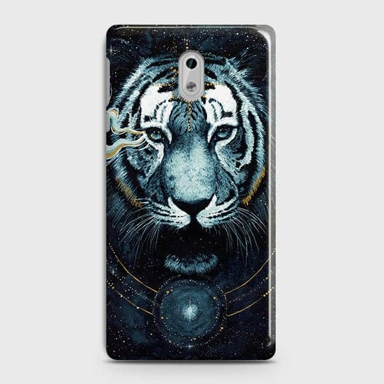 Vintage Galaxy 3D Tiger  Case For Nokia 6