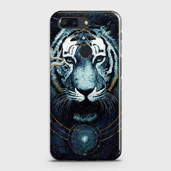 Vintage Galaxy 3D Tiger  Case For OnePlus 5T