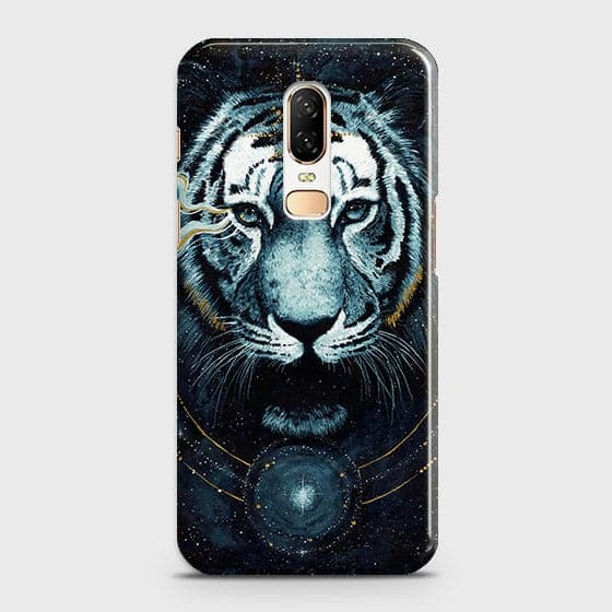 Vintage Galaxy 3D Tiger  Case For OnePlus 6