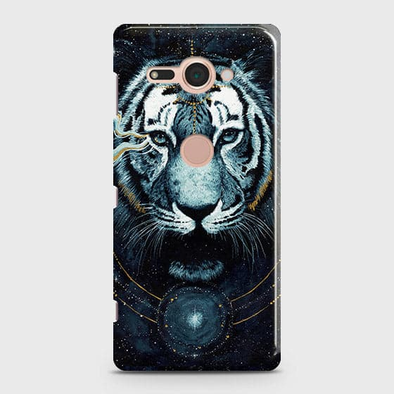 Vintage Galaxy 3D Tiger  Case For Sony Xperia XZ2 Compact