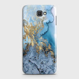 3D Trendy Golden & Blue Ocean Marble Case For Samsung Galaxy J5 Prime