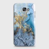 3D Trendy Golden & Blue Ocean Marble Case For Samsung Galaxy J4 Plus