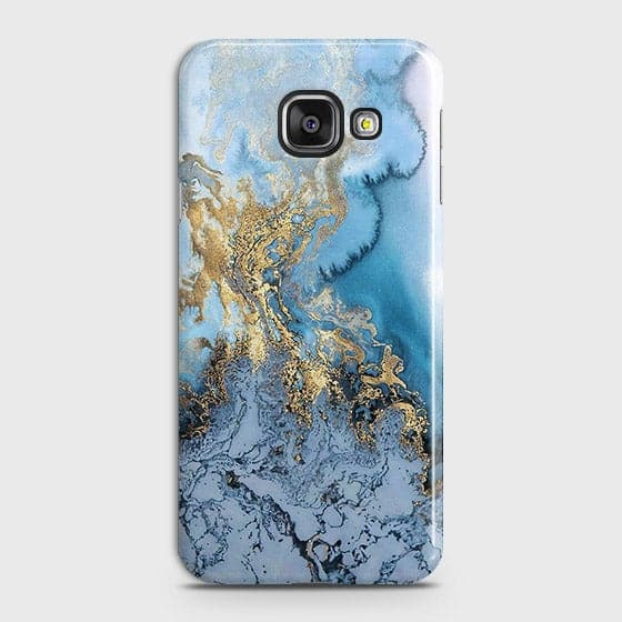 3D Trendy Golden & Blue Ocean Marble Case For Samsung Galaxy J7 Max