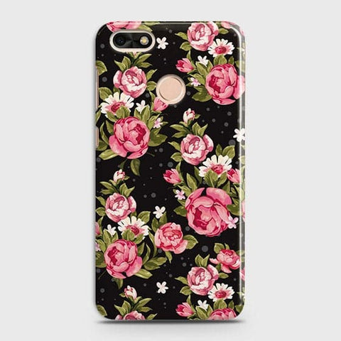 Trendy Pink Rose Vintage Flowers Case For Huawei P9 Lite Mini