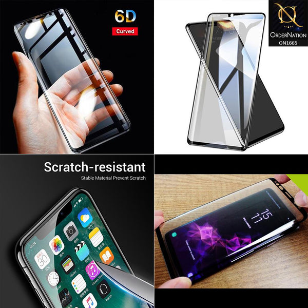High Quality 6D Tempered Glass With 9H Hardness For Samsung Galaxy J7 Prime - Black
