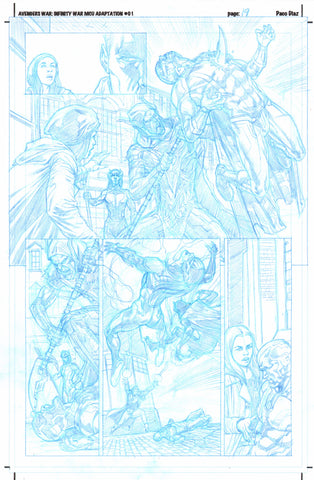 Paco Diaz Original Art Avengers Prologue #1 P19