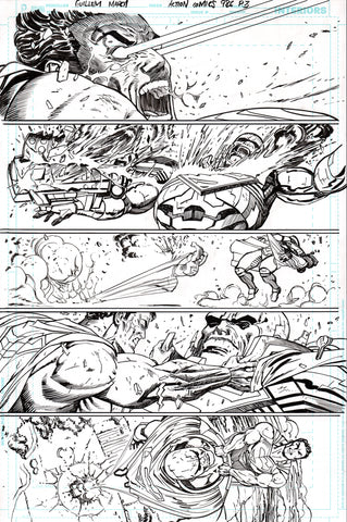 Guillem March Original Art Action Comics #986 Page 3